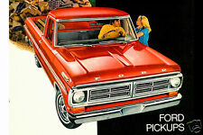 1972 Ford F-100 PICKUP TRUCK, RED, Refrigerator Magnet, 40 MIL
