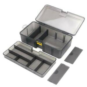 Plastic Double Layer Waterproof for Fishing Tackle Box Lures Bait Storage Case