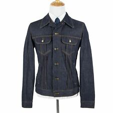 Dolce Gabbana Blue Denim Cotton Contrast Stitching Unlined Trucker Jacket 38US