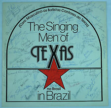 The Singing Men of TEXAS in Brazil 1982 Private Choral Gospel 85+ Autographs VG+