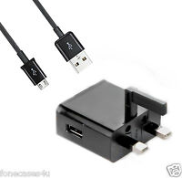 MAINS UK 3 PIN PLUG CHARGER FOR HTC ALL MODELS MICRO USB M8 M9 MINI 626 M8S