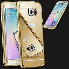 Luxury Mirror Back Cover Metal Aluminum Frame Case For Samsung Galaxy S6,S6 edge