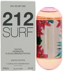 212 Surf By Carolina Herrera For Women EDT Perfume Spray 2oz Tester New