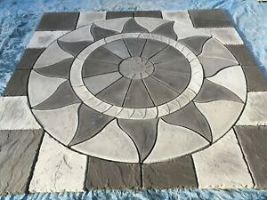 Daisy Aztec 3m x 3m Slate Grey/ight Grey Inc Infil Paving Kit Inc Del