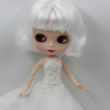 """12"""" Blythe Nude Doll from Factory Matte Face joints Body short white hair sale"""