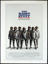 THE RIGHT STUFF 1983 FILM MOVIE POSTER PAGE . TOM WOLFE . E48