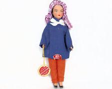 "VINTAGE anni 1960 Jany Souvenir Girl Doll Nizza Francia le Couture poupee Arcachon 8"""