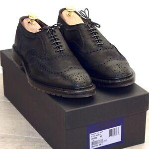 * NIB * $425 Allen Edmonds MCTAVISH 8.5 D Waxed Suede * new Shoe Trees AE Bags