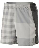"New Nike Men's Dri-FIT Plaid 7"" Running Shorts Size XXL Gray MSRP $40"