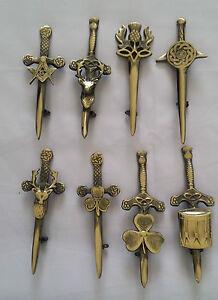 Scottish Kilt Pin Antique Finish Various Design Highland Celtic Pins & Brooches
