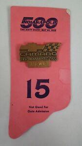 1982 Indianapolis 500 Brozne #V848 Pit Badge Back Up Card Credential Camaro Z28