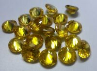 Natural Yellow Color Zircon Round Shape Loose Gemstone Lot