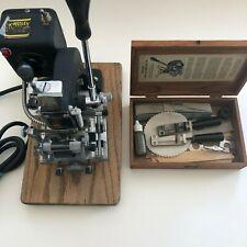 Vintage Kingsley Model KTE-6 Hot Foil Stamping Machine & Extra Parts