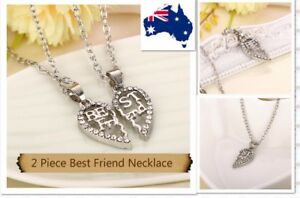 Love Heart Pendant Chain Necklace Best Friend Birthday Gift for Girls/boys