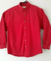 Eddie Bauer mens shirt size S/P red button down long sleeve