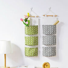 3 Grid Wall Hanging Storage Bag Organizer Toys Container Decor Pocket Pouch Bag