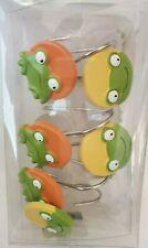 New Saturday Knight Jenny Jeff Peking Frogs Set Of 12 Shower Curtain Hooks