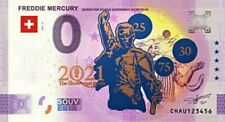 0 euro Gold Freddie Mercury 2021 Queen THE SHOW MUST GO ON Billet Or Limited