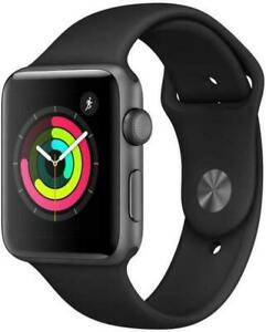 NEW Apple Watch Series 3 42mm GPS Smart Watch - Space Gray MTF32LL/A Black Band