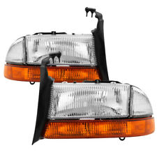 Dodge 97-04 Dakota 98-03 Durango Replacement Headlights + Corner + Signal Lamps