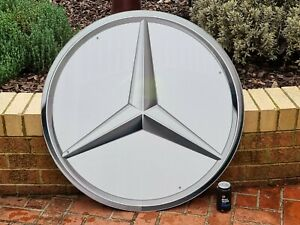 Mercedes Large Round Sign approx 1000mm diameter was used in a car dealership