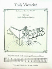 Truly Victorian  TV442 1860 Ballgown Bodice Blouse Sewing Pattern uncut