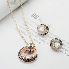 Fashion Jewelry Set Necklace and Earrings Rhinestone Crystal Accessories Gift