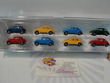 Brekina 90457-Set avec 8 Volkswagen VW Beetle Modèles Dans Diverses Couleurs 1:87