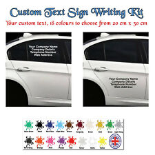 Personalised Business Sticker, Side / Rear, Car & Van Decal, Vinyl Sign,