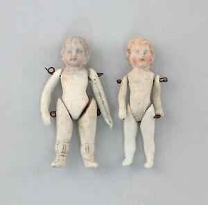 99810174 zwei Stück Ganz- Biskuit Porzellan Puppenstubenpuppe Puppe