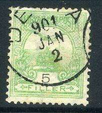 Hungría; 1900 temprana Turul cuestión Fine Used 5f. valor Matasellos