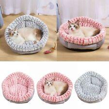 Dog Round Cat Winter Warm Sleeping Bag Long Plush Soft Pet Bed Calming Bed Round