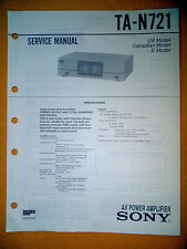 Sony TA-N721 Service Manual (original) Used
