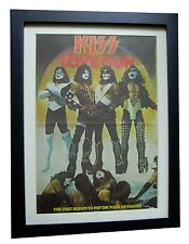 KISS+Love Gun+POSTER+AD+RARE ORIGINAL 1977+TOP QUALITY FRAMED+FAST GLOBAL SHIP