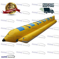 Inflatable Flying Fish Banana Boat 6 Passenger Water Games Sled With Air Pump