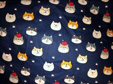 New ListingShiba Inu Dog Japan Fabric 100% Cotton Btfq Fat Quarter 18x22