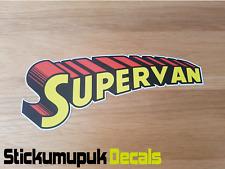 Supervan Superman Racing Van Autocollant Décalque Marrant Autocollant VW T5 T4 TRANSIT IVECO