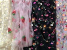 Tutu Fabric Embroidered Sequin Fabric Mesh Net Tulle Dressmaking 1 Metre x 160cm