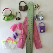 Attractive Dolls Clothes + Bags - ruler in photos - vintage dolls clothes