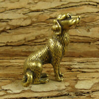 Solid Brass Dog Figurines Dog Statue Home Office Ornament Animals Figurines Toys