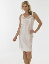 Ladies Full Length Slip Petticoat Chemise Wide Straps Womens Sizes 10-32