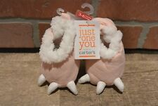 Carter's Pink Dinosaur Monster Claw Feet Baby Girl Booties Slippers Shoes 3-6M