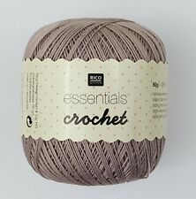 RICO ESSENTIALS CROCHET 100% COTTON MERCERIZED YARN Size10 50g ***ALL COLOURS***