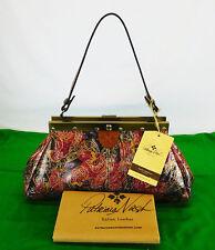 PATRICIA NASH Floral Embossed Multi-Color Leather Shoulder Bag   Msrp $169