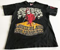 90's Winterland San Francisco T-shirt Sz M Fillmore Collection Sleeve Logo Rare