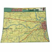 Lot of 2 Coca-Cola Shadle Cardboard Travel Trays Missouri Map St Louis