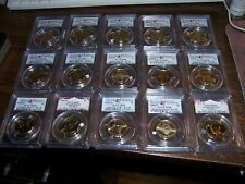 (LOT OF 15) PCGS PRESIDENTIAL $1-FRESHLY GRADED-EXACT COINS SHOWN-BOX #8-A10/22A