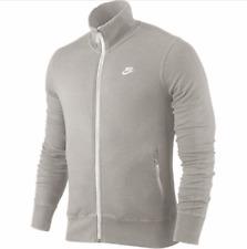 Nike Herren Sweater Sweat Tracktop Gr.S Jacke Sportswear Sweatshirt Grau 91259