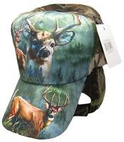 Redneck Camouflage Camo Three Deer Buck baseball style ball Hat Cap (RUF)