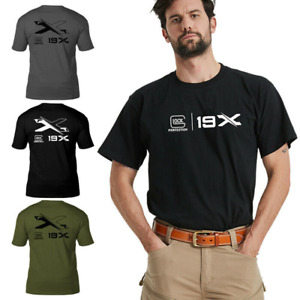 New Summer Army Fan Glock Commemorative Short Sleeve T-shirt Is 100% Cotton Men